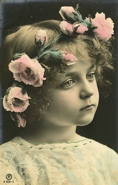 Vintage Postcard ~ Little Girl - Foter (Original image URL: https://www.flickr.com/photos/chicks57/1299920386/ )
