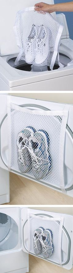 Sneaker wash & dry bag // genius! #product_design