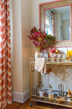 Tour Roxy's NYC Apartment #GramercyCourt – Society Social Exterior Design, Interior And Exterior, Bar Cart Styling, Hardwood Floors, Flooring, First Home, One Bedroom, This Is Us, New Homes