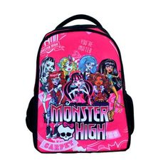 75c080a877ae 2017 Popular Monster High Children School Bags High Quality Kids Backpack  Mochila
