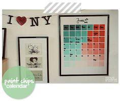 paint chips calendar