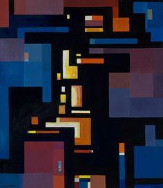 Maude Kerns, The City - Night Flight, n., Jordan Schnitzer Museum of Art Sacred Geometry, Art World, Art Museum, Abstract, City, Collections, Night, Summary, Museum Of Art