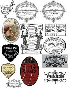 Harry Potter Potion Labels Polyjuice Potion by laurimurphy on Etsy, $6.00