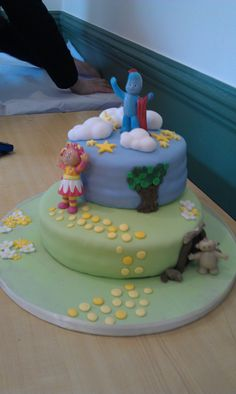 in the night garden birthday cake, my first birthday cake
