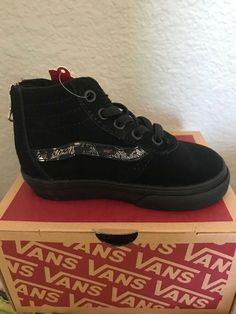 a4af24251240 Baby Shoes · Toddler Girls Hi Top Vans black w  leopard size 8  fashion   clothing