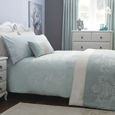 pretty duck egg blue bedroom
