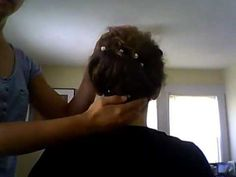 Elegant and easy topsy-tail up-do