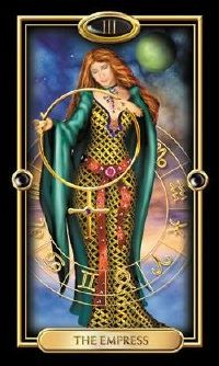 The Empress in the Gilded Tarot - Deck by Ciro Marchetti (I absolutely love his work and own all of his amazing deck creations, both tarot and oracle.)