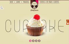 cupcake, single page, slider, grande image, typo