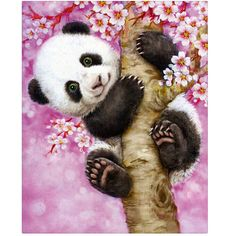 DIY 5D Diamond embroidery painting animals panda tree picture of rhinestones embroidery with diamond mosaic sets for cx