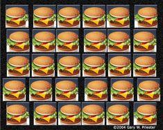 Burgers to Go Hidden 3d Images, Hidden Art, Hidden Pictures, Optical Illusions For Kids, Eye Illusions, Magic Eye Pictures, 3d Pictures, Burger Images, 3d Stereograms