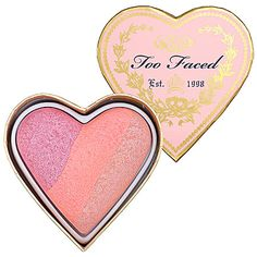 Too Faced - Sweethearts Perfect Flush Blush - Candy Glow - rose pink shimmer / soft coral pink / peachy pink shimmer  #sephora