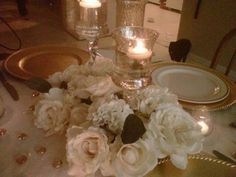 Wedding, Flowers, Reception, Pink, Gold, Inspiration board