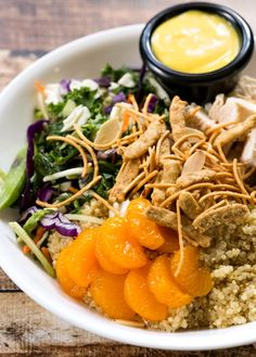 Asian Quinoa Chopped Salad with Asian Honey Mustard Dressing #glutenfree