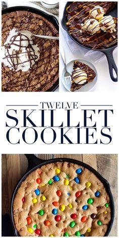 12 Skillet Cookies More