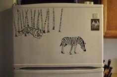 Charlie Layton Decorates Refrigerators With Unbelievable Doodling Drawings.|FunPalStudio|Illustrations, Entertainment, beautiful, creativity, nature, Art, Artwork, Artist, drawings, paintings, Refrigerators, Doodling, Charlie Layton.