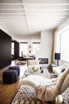 The Return of Domino Magazine | Apartment Therapy---main living room. Warm neutrals.