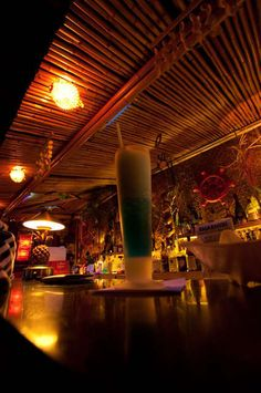 Enjoy drinks at Hala Kahiki tiki lounge