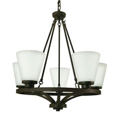 Good Earth Lighting�5-Light Taos Dark Bronze Chandelier - Potential entryway light - Lowes