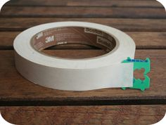 bread ties to hold ends of tape, genius!