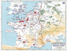 Plan zur Operation Overlord und zur begleitenden Bomberoffensive, mit den deutschen Stellungen am 6. Juni 1944