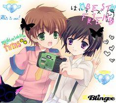 Anime Boy and Girl Friends | Anime Girl Best Friends