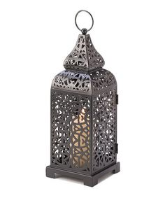 This would be great on my patio!   $9.99 Moroccan Tower Candle Lantern by Backyard Oasis Boutique on #zulily today!
