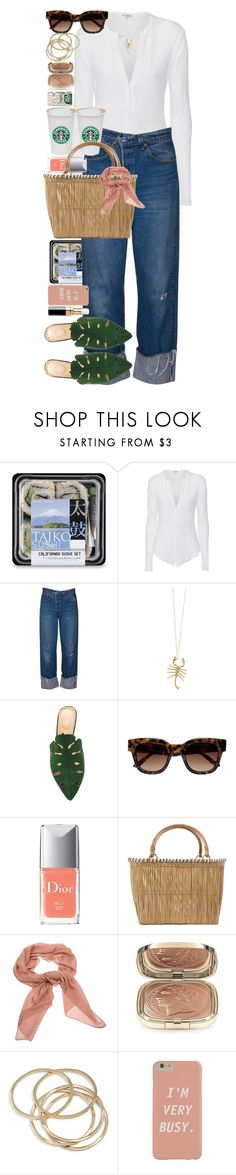 """""""Giving up smoking is the easiest thing in the world. I know because I've done it thousands of times."""" by quiche ❤ liked on Polyvore featuring James Perse, Jennifer Fisher, Charlotte Olympia, Sun Buddies, Christian Dior, Serpui, Salvatore Ferragamo, Dolce&Gabbana, ABS by Allen Schwartz and Chanel"""
