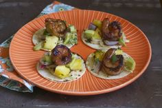 Grilled Mini Pineapple Rum Shrimp Tostadas