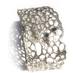 Sabo Designs Malibu Cuff Bracelet with two Sapphires ($535) ❤ liked on Polyvore