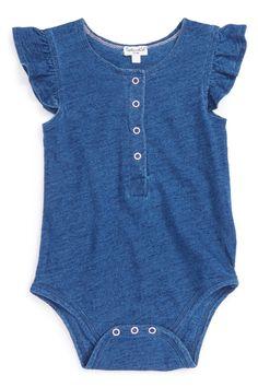 Splendid   Indigo Dyed Bodysuit (Baby Girls)   Nordstrom Rack