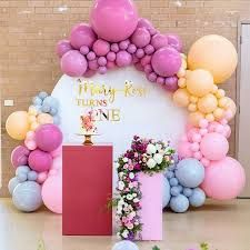 Birthday Party Dcoration For Women Table Settings Ideas For 2019 Baby 1st Birthday, 1st Birthday Parties, Birthday Party Decorations, Baby Shower Decorations, Cake Birthday, Balloon Flowers, Balloon Garland, Pink Balloons, Balloon Arrangements