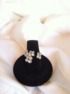Sterling Silver Ruby Flower Ring - Gemstone Ring - Valentine by CopperfoxGemsJewelry on Etsy https://www.etsy.com/listing/129027681/sterling-silver-ruby-flower-ring