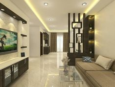 Living Room with a Modern Sensibility 😊 This is our lastest venture with interior. For further enquiries… Living Room Partition Design, Living Room Tv Unit Designs, Room Partition Designs, Bedroom False Ceiling Design, Living Room Divider, Living Room Sofa Design, False Ceiling Living Room, Bedroom Furniture Design, Living Room Modern