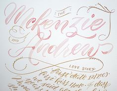 I Still Love You by Melissa Esplin: Calligraphy: McKenzie and Andrew Wedding
