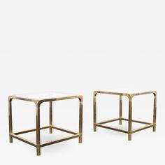 Vintage Brass Side Tables By Mastercraft Brass Side Table, Modern Side Table, Table Furniture, Home Furniture, Furniture Design, Modern Retro, Danish Modern, Contemporary Furniture, Contemporary Design