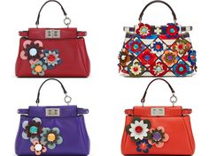 God Save the Queen and all: Fendi SS16 Flowerland Collection #fendi #bags #flowerland
