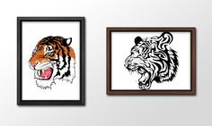 When I first started out as a Graphics Designer, one of the first lessons I learnt was how to use Adobe Illustrator. In order to practice my skills, I took images and recreated them, such as these 2 tigers.