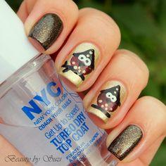 Owl Witch halloween  #nail #nails #nailart