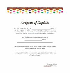 Certificate Of Training Completion Template Free  Certificate Of