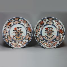 Pair of Japanese Imari plates, Genroku period circa 1700