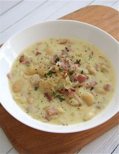 Bacon and Butterbean Chowder - doesn't make a ton so good for lunches.  Would be easy to double if you need more.