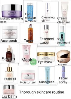 Thorough skin care routine - Care - Skin care , beauty ideas and skin care tips Beauty Blogs, Beauty Products, Skin Products, Skin Care Regimen, Skin Care Tips, Skin Tips, Organic Skin Care, Natural Skin Care, Dry Skincare