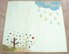 Quilt - Tree, Rain, Clouds, and Wind -  by EmiShimosato02, via Flickr