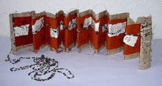 'Chain letter' -by Willy Schut Handmade Journals, Handmade Books, Chain Letter, Altered Book Art, Creation Couture, Book Projects, Book Binding, Little Books, Book Journal