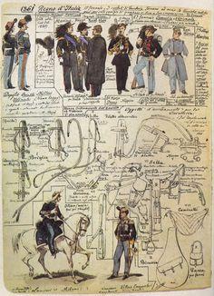 06 Uniformi ed equipaggiamento di Armi varie - 1861.