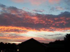 Sun Rise Pink Blue Sky
