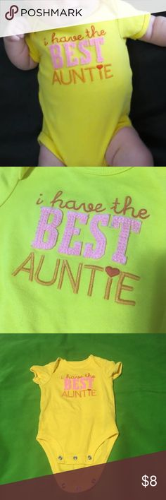 """Carters ~Best Auntie"""" Onesie ~Like New/Worn Once Carters ~Best Auntie"""" Onesie ~Like New/Worn Once ~3 Months Carter's One Pieces Bodysuits"""