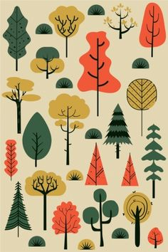 classical elements colored sketch tree flat tree elements classical colored flat sketchYou can find Design elements and more on our website Flat Design Illustration, Nature Illustration, Landscape Illustration, Graphic Illustration, Rabbit Illustration, Image Deco, Sketch Free, Drawing, Posca Art