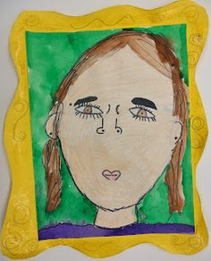 Panther's Palette: 1st Grade, self portrait/ has other interesting art for 1st grade